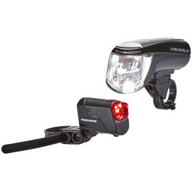 Trelock LS 950 CONTROL ION / LS 720 Juego de iluminación - Juego de luces para bicicleta - negro